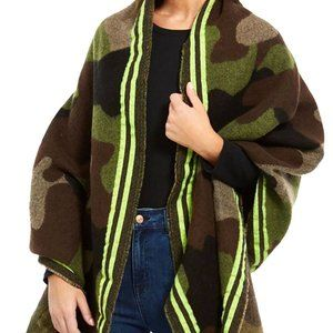 DKNY oversized blanket camo women's scarf